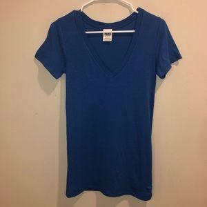 Victoria Secret Pink v neck shirt blue